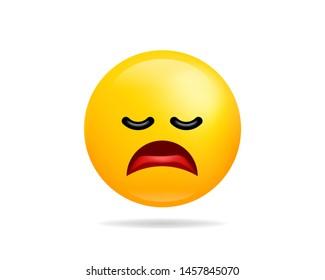 Tired Emoji Images, Stock Photos & Vectors | Shutterstock