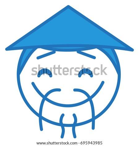 Emoji Stereotypical Chinese Man Wearing