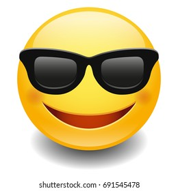 Emoji Sunglasses Smiley Face Vector Design Art