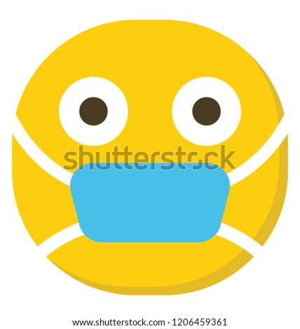 Emoji Surgical Mask On Face Mask Stock Vector Royalty Free