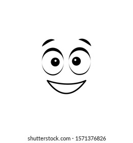 Emoji, thrilled icon. Simple line, outline vector of cartoon face icons for ui and ux, website or mobile application