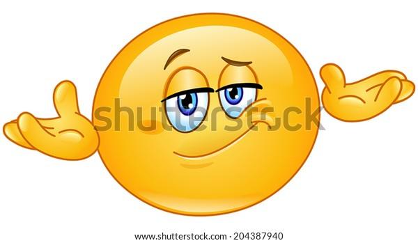 Image Vectorielle De Stock De Emoticon Qui Pose Le Probleme Qui