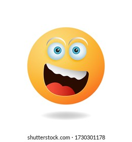 Emoticon character - The concept of the cartoon character design emoticon cartoon design style with smile expression. Mascot logo design