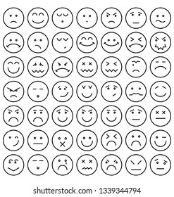 Emoticon or Emoji Vector Isolated Icon which can easily modify or edits Pack