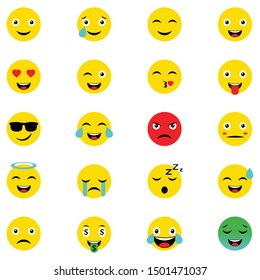 emoticon faces gestures bundle icons vector illustration design. Set of Emoticons. Set of Emoji. Isolated vector illustration on white background