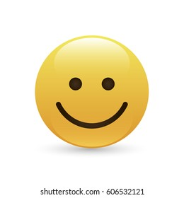 Emoticon, icon, emoji isolated on white background