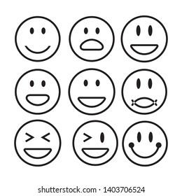 emoticon icon logo design template