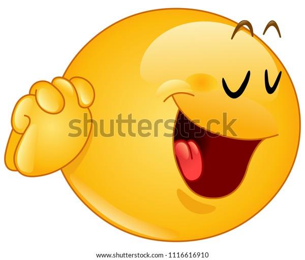 Image Vectorielle De Stock De Emoticon Fait Un Oui S Il Vous 1116616910