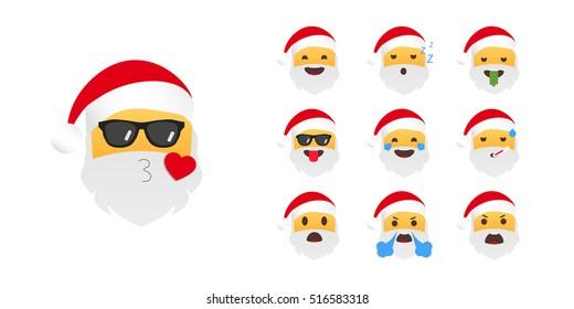 emoticon santa claus emoji christmas 260nw 516583318