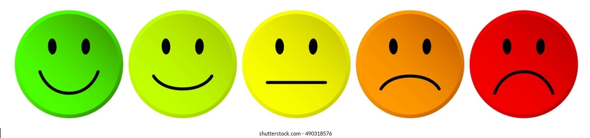 emoticon smiley rating vector icon buttons isolated on white background