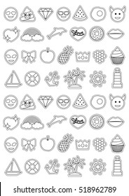 Coloring Page Pineapple Stock Vectors Images Vector Art