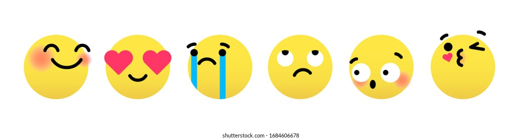 Emoticon vector,  social media emoticon, emoticons face set, feeling emoticon, emoji in yay, love, sad, cry, moody, shy, kiss emotions for use in chat, email, massage box and comment.