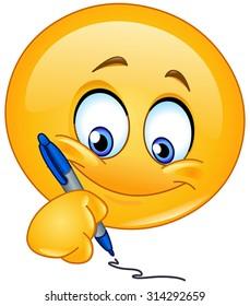Emoticon writing