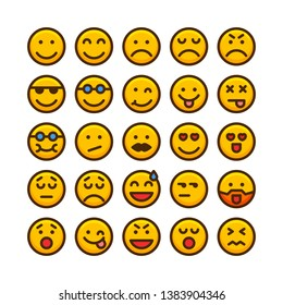Emoticons icon set,Icons about facial expressions