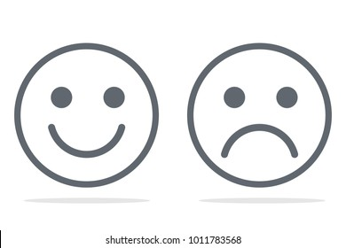 emoticons smile and sad icon
