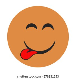 Emoticons.Smileys icon yellow color.Emoji face vector on white background