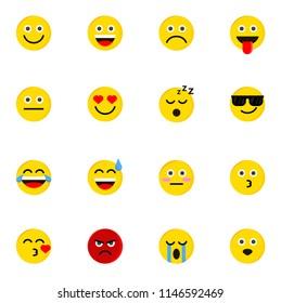 emotion icon symbol, logo, sign, vector