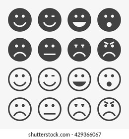 Emotion Icon in trendy flat style isolated on grey background. Emotion set for your web site design, logo, app, UI. Vector illustration, EPS10.