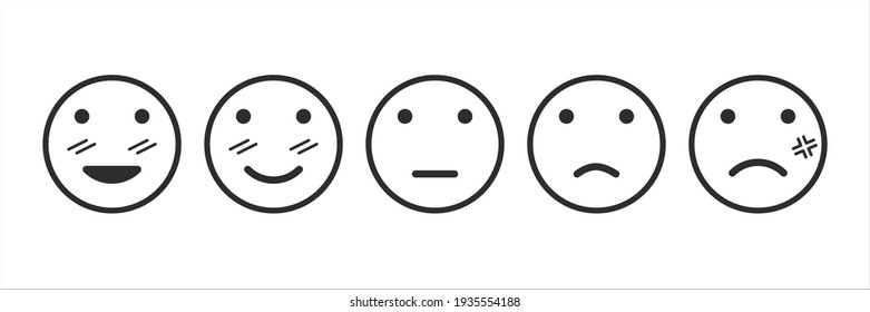 Emotional assessment icon set customer evaluation the service