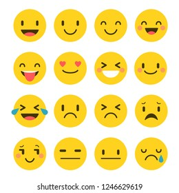 Emotional collection of face icons