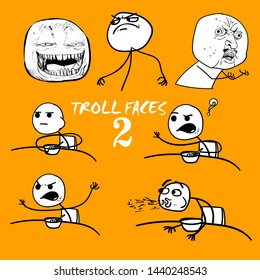 emotional stickers internet memes troll faces