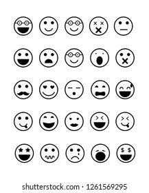 Emotions icon set