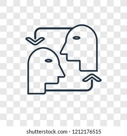 Empathy concept vector linear icon isolated on transparent background, Empathy concept transparency concept in outline style