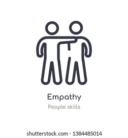 empathy outline icon. isolated line vector illustration from people skills collection. editable thin stroke empathy icon on white background