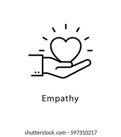 Empathy Vector line Icon
