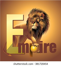 Empire lion king of beasts vector power