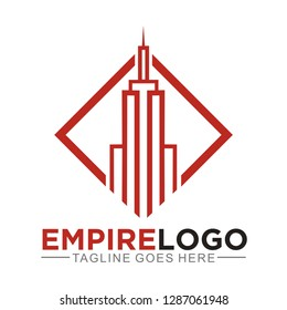 Empire logo for building, real estate, and skyscraper company
