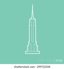 Empire Statae Building line icon