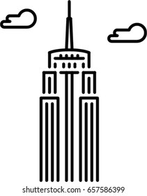 empire state building outline icon