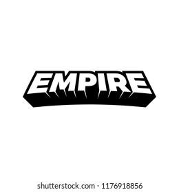 EMPIRE typeface logo,3D,block font