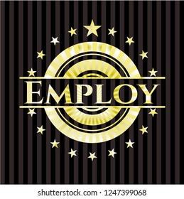 Employ golden emblem