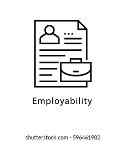 Employability Vector Line Icon