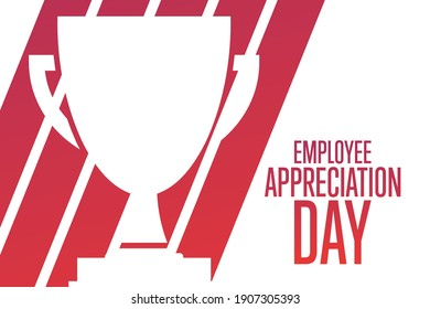 Employee Appreciation Day. First Friday in March. Holiday concept. Template for background, banner, card, poster with text inscription. Vector EPS10 illustration