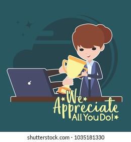 Employee Appreciation Illustration