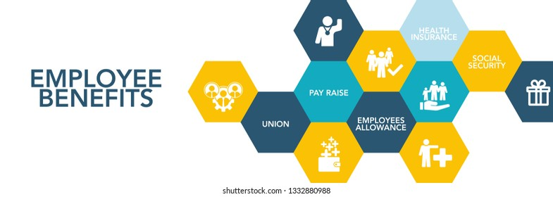 Employee Benefits Icon Concept