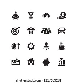 EMPLOYEE BENEFITS ICON SET