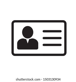 Employee clerk card, vcard vector icon illustration for graphic design, logo, web site, social media, mobile app, ui