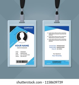 Employee ID Card Design Template