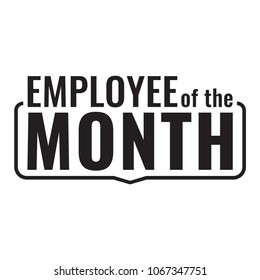 Employee of the month. Badge icon. Flat vector illustration on white background.