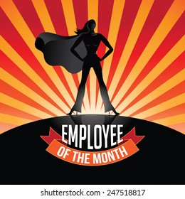 Employee of the Month burst EPS 10 vector royalty free stock illustration