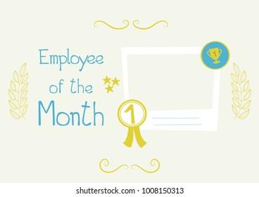 certificate employee month images stock photos vectors shutterstock