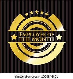 Employee of the Month golden emblem