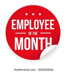 Employee of the Month label sticker