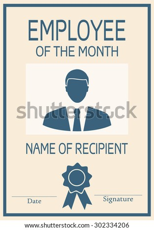 employee month poster illustration vector stock vector royalty free