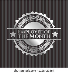 Employee of the Month silver shiny badge