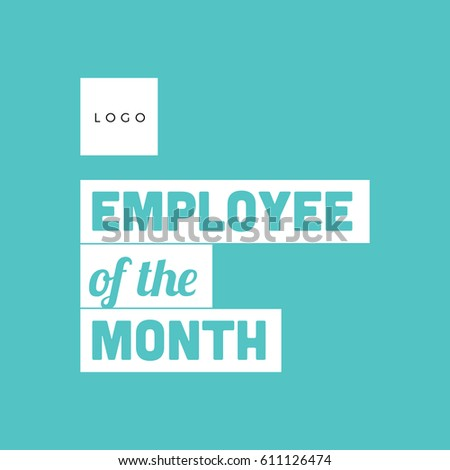 employee month typography poster flat design stock vector royalty
